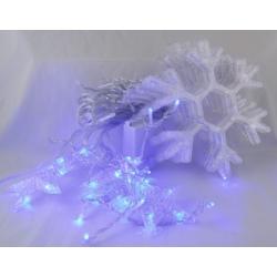 Гирлянда - штора (бахрома) светодиод.снежинки + звездочки голубые 3м*1м 8реж. V-138B
