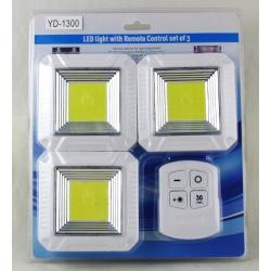 Подсветка для шкафа 3 лампы с пультом YD-1300-COB