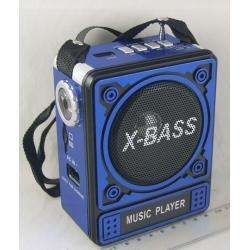 Радиоприемник GT-6188T FM USB, SD (4AA/сетевой) встроенный аккумулятор