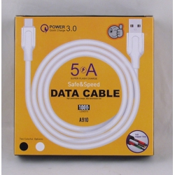 Шнур TYPE-C 1м A-910-TC 5A быстрая зарядка 3.0