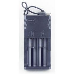 Зарядное устройство для 2 акк. 18650 HD-8863B (от USB)