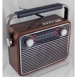 Радиоприёмник M-180BT 3 band (FM/AM/SW) USB, SD, встроен. аккум., Bluetooth