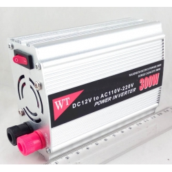 Преобразователь напряжения 12V-220V 300W 1 розетка + USB №810