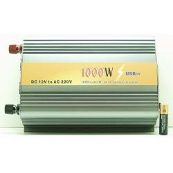 Преобразователь напряжения 12-220V 1000W USB дорог. в кор.