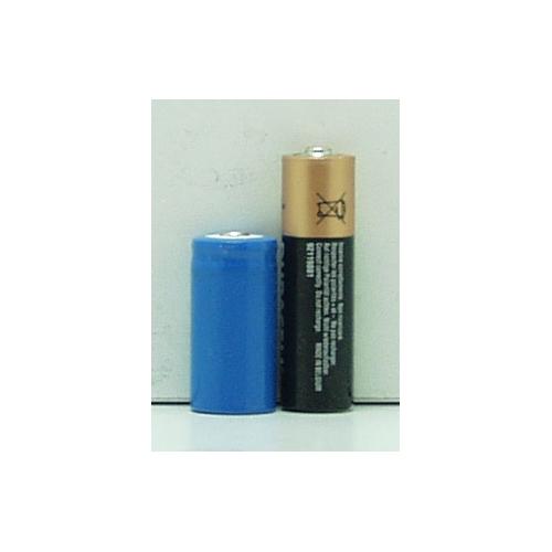 Аккумулятор для фонарика №16340 3,7V 1500(3800)mA