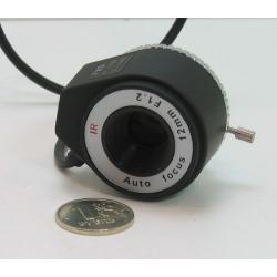 """Объектив FFA-1212DC 1/3"""" 12mm F1.2 автодиафр. 29gr"""