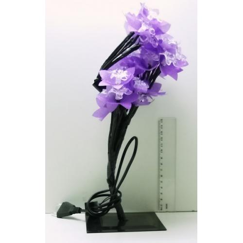 Гирлянда - цветок разноцв. на подстав. 28 ламп (цветок лилии)