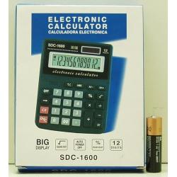 Калькулятор 1600 (SDC-1600) 12 разр. сред.