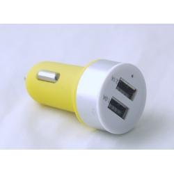 Бл. пит. для MP3 (2 USB,без шн.) 5V 2,1/1A прикур. №5656 кругл.