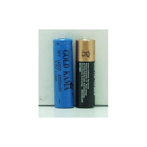 Аккумулятор для фонарика №14500 3,7V 1600(4500)mA