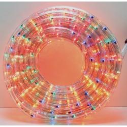 Шнур (дюралайт) 10м прозр., разн. светодиод. кругл