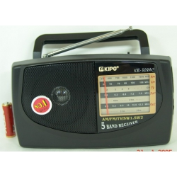 KIPO KB-308АС/40 (AC&DC) приемник 5-band с русс.о