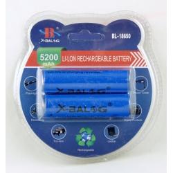 Аккумулятор для фонарика №18650 8800mA (2шт) блист.