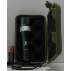 Фонарь светодиодный (1 мощ. 1AА) 200W KSK zoom (пласт. короб.)