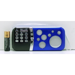 Колонки MP3 с FM-прием., USB, SD AN-29 с экр.