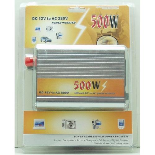 Преобразователь напряжения 12V-220V 500W  1 роз. деш.