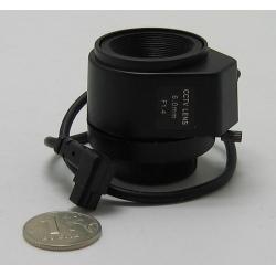 """Объектив FFA-0612DC 1/3"""" 6mm F1.4 автодиафр. 48gr"""