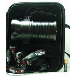Фонарь аккумуляторный (3 ярк.) + акк.+ ЗУ D-08 (метал. в чемодане)