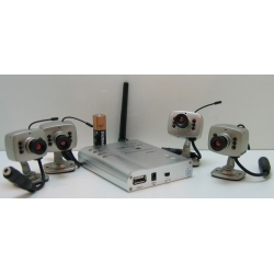 ВИДЕОкам. R701 & 208C (4 кам.+прием) (бесп.) USB