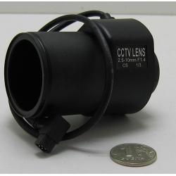 """Объектив FFZ-02510ADC 1/3"""" 2.5-10mm F1.4 105-33gr"""