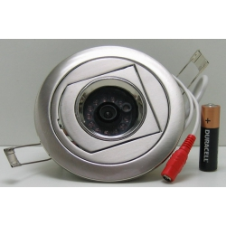 ВИДЕОкам. JK-777 цв. CCD (круг.) 420 Lin 12 ламп