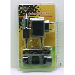 Зарядное устройство для акк. 18650 (сет.+ авто) H-281 блист.