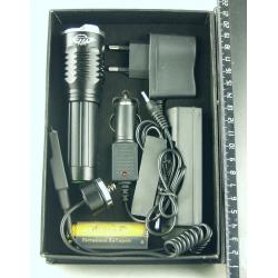 Фонарь светодиодный (1 мощ., акк.+ЗУ) 5000W H-398-T6 (на ружье) zoom