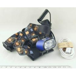 Фонарь головной (2 ярк.+ 2акк.+ЗУ) 3реж. K-28-T6 USB