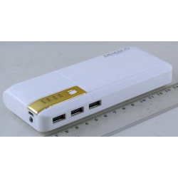 PowerBank 3USB DEMACO №047 с фонарем 20000mAh
