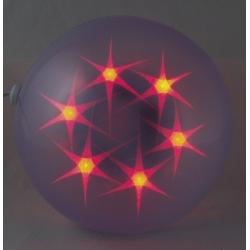 Гирлянда - шар с рисунком. разноцветный 20см K-20