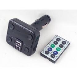 MP3 модулятор авто A-08 2 USB с пультом, экр.
