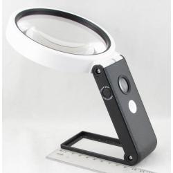 Лупа (110-3,5кратн.) на подставке с подсвет. 5+1 ламп + детект. TH-7018C