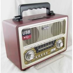 Радиоприёмник M-D1800BT 3 band (FM/AM/SW) USB, SD, Bluetooth ретро сетев./4R20