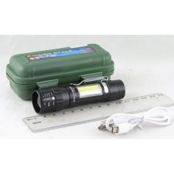 Фонарь светодиодный (1 мощ.+1 больш., акк.+  шнур microUSB) CDL-1516B zoom