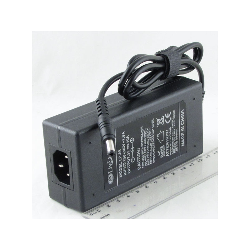 Блок питания (5V 10A) LP-88 толст. штек. (5,5*2,5)