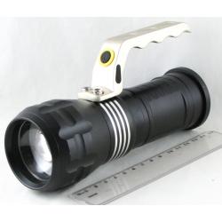 Фонарь аккумуляторный (1 ярк. + 2акк.+ ЗУ) 10000W HS-01-P50 zoom