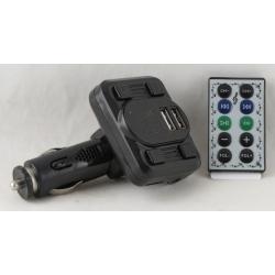 MP3 модулятор авто A-06 2 USB с пультом, экр.