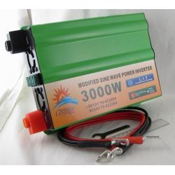 Преобразователь напряжения 12V-220V 3000W СОЛНЦЕ