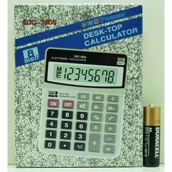 Калькулятор 3808 (SDC-3808) 8 разр. сред.