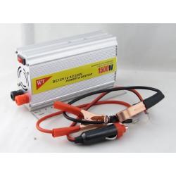 Преобразователь напряжения 12V-220V 1500W 1 розетка + USB №825