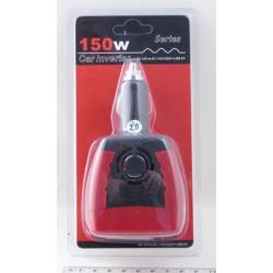 Преобразователь напряжения 12V-220V 150W 1 розетка + USB №805