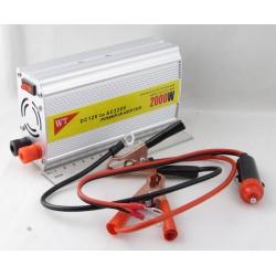 Преобразователь напряжения 12V-220V 2000W 1 розетка + USB №828