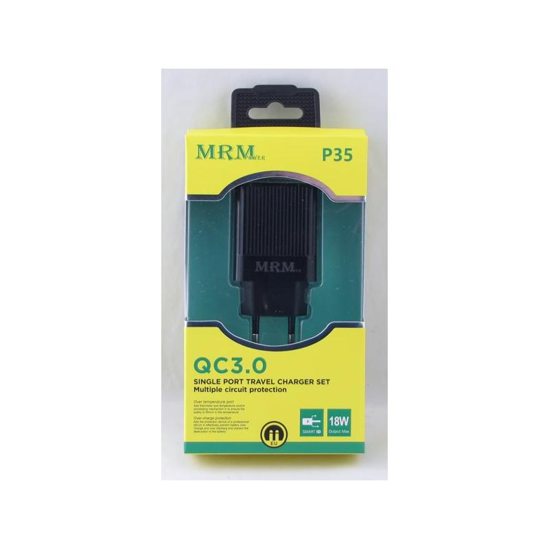Сетевое зарядное устройство 5V 3,1A USB P-35 черный 3.0 быстрая зарядка