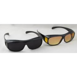 Очки антибликовые водительские (2 шт. черные + желтые) CP-015
