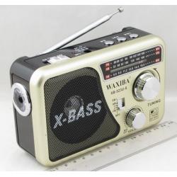 Радиоприёмник XB-523U-S FM/AM/SW 3 Bands SD,USB встроен. аккум. 18650 солнеч. батар.