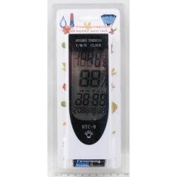 Термом.+ гигрометр цифровой HTC-8 с часами, датой
