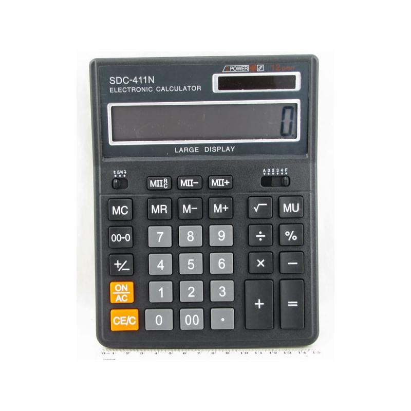 Калькулятор 411 (SDC-411N) 12 разр. больш. экр.