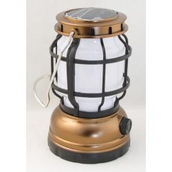 Фонарь для кемпинга YD-1596 (1 больш., шнур microUSB/3AAA) регулятор, солнеч. батарея