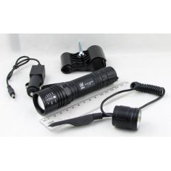 Фонарь светодиодный (1 мощ., акк.+ЗУ) 5000W HY-P606A (на ружье) zoom