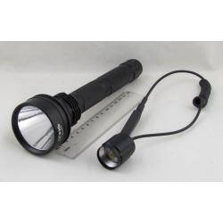 Фонарь светодиодный (1 мощ., акк.+ЗУ) 5000W HQ-931-P70 (на ружье)